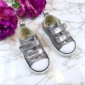 Silver Converse Sneakers